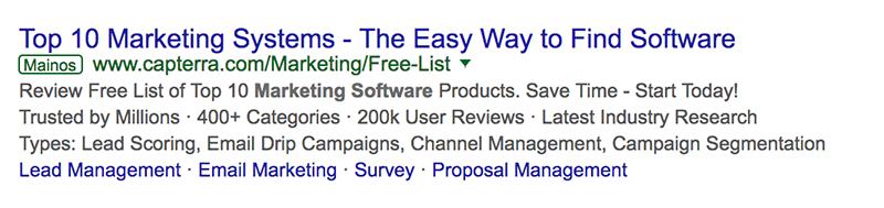 Adwords-mainos mainoslaajennuksilla