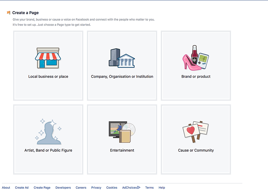 Facebook-sivun perustaminen - luo sivu