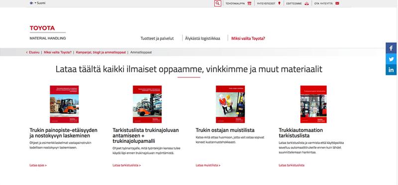 Inbound-kasvutarina: Toyota Material Handlingin materiaalipankki