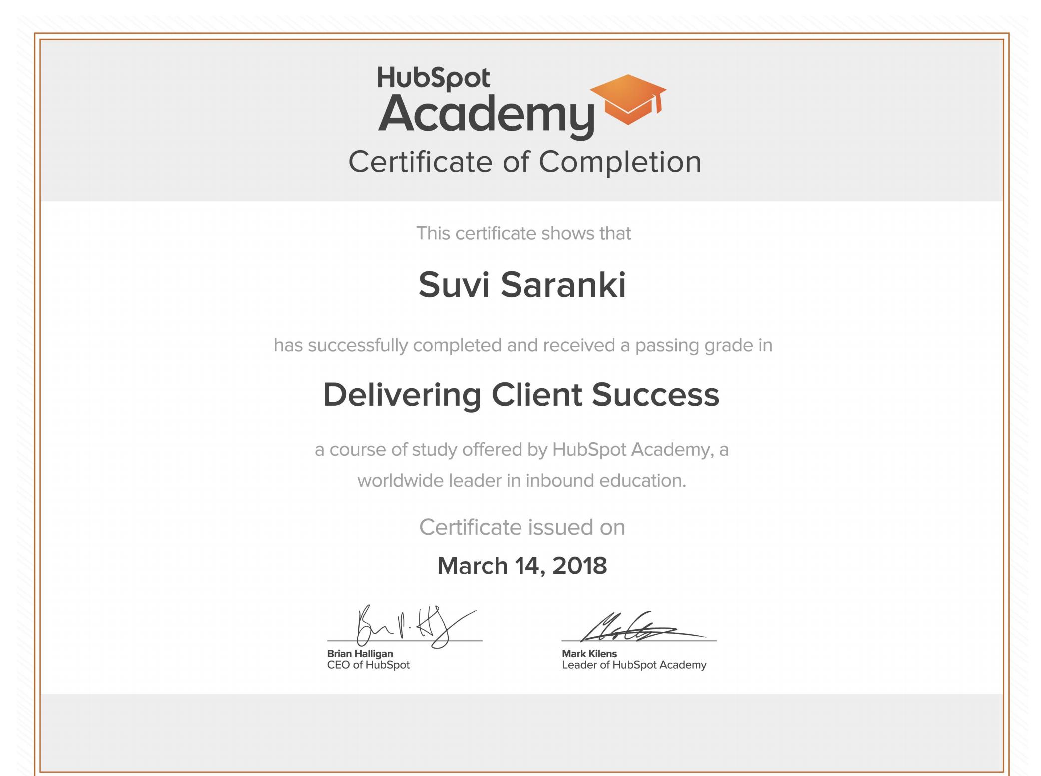 HubSpot_Academy_sertifikaatti