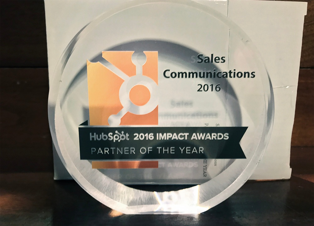 Sales Communications Impact Awards Partner of The Year 2016