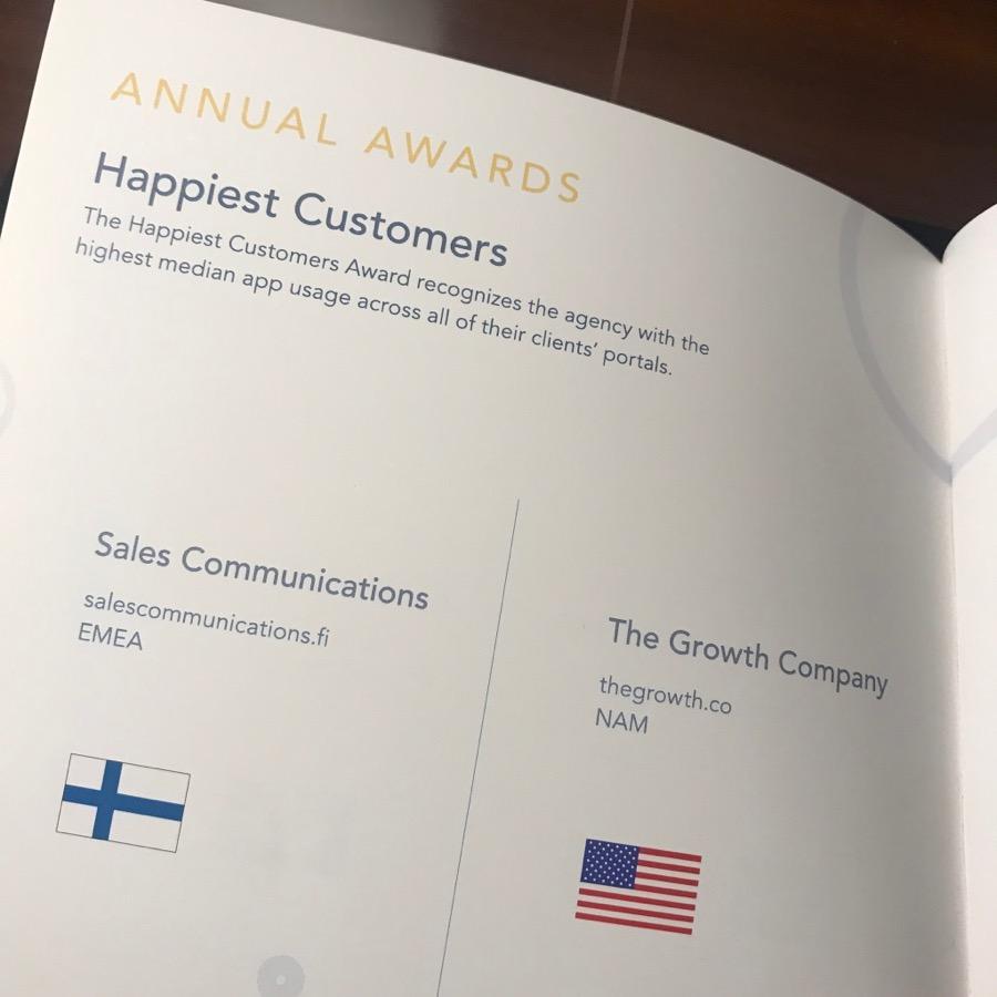 Sales Communications sai HubSpotin käytöstä ja asiakastyytyväisyydestä Happiest Customer -palkinnon