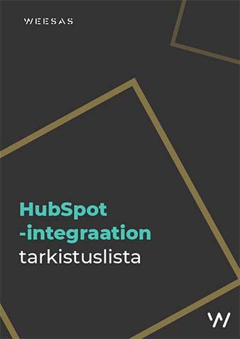 HubSpot-integraation tarkistuslista