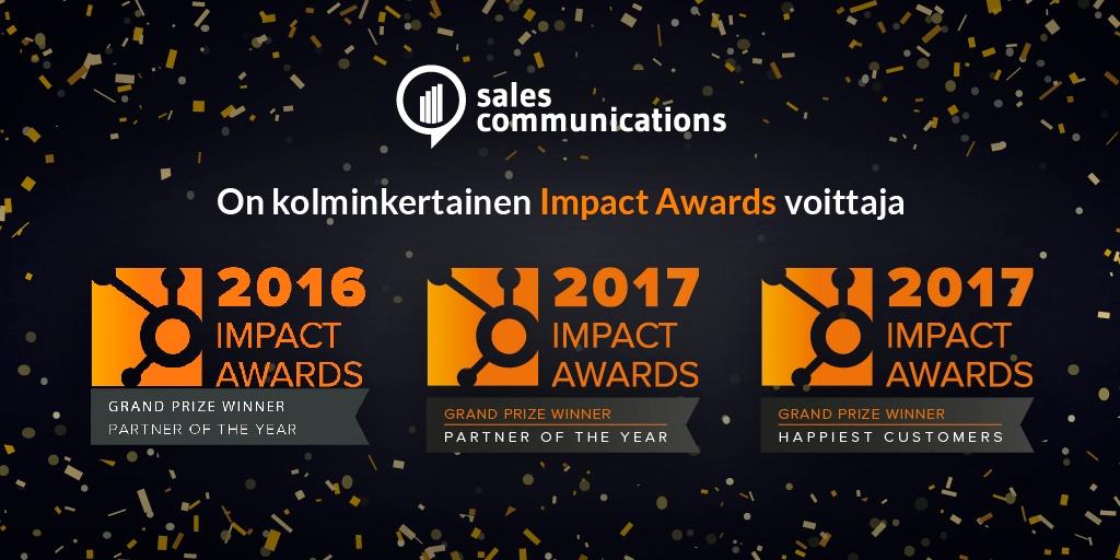 Sales Communications HubSpot kumppani paras suomessa ja eurtoopassa