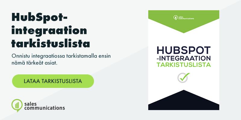 HubSpot ja integraatiot